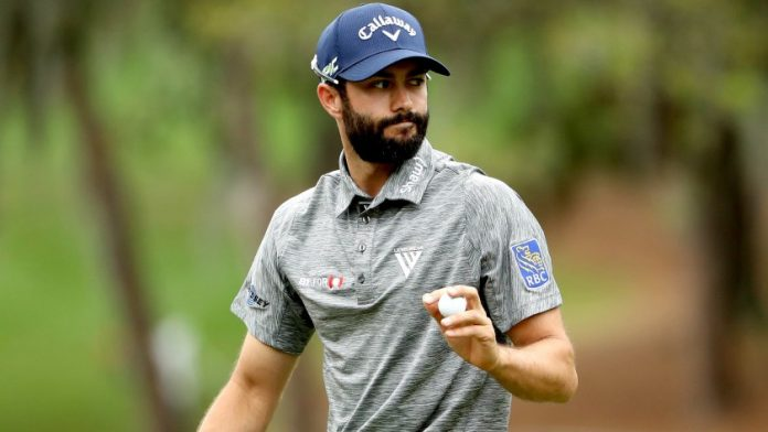 Adam Hadwin holds the 36-hole lead/co-lead for the second time in his PGA Tour career at the 3M Open. Photo: LA Times