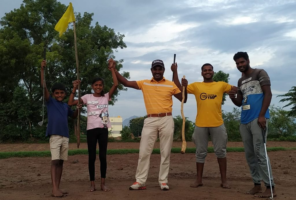 Practice has become a family affair for C Muniyappa.
