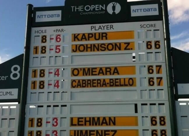In three appearances at The Open, seeing his name atop the leaderboard in 2013 is among the standout memories for Shiv Kapur.