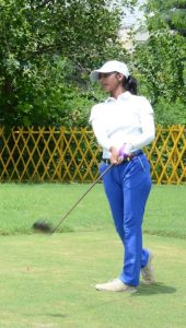 Nishna played her rookie pro event on the her home course, Bombay Presidency Golf Club, and got a hole-in-one that week in February.