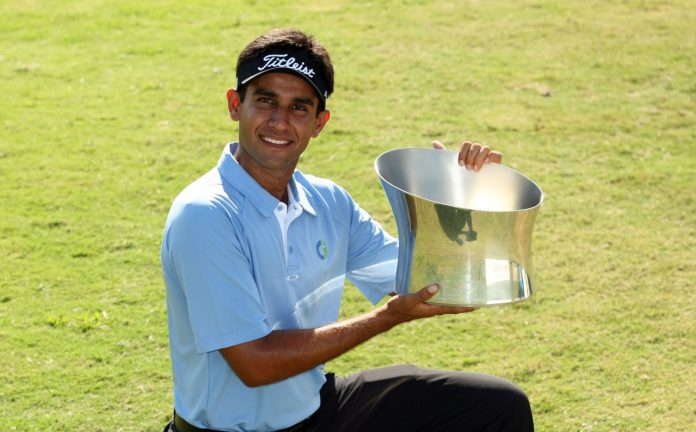 Bobbing in hope and despair, Himmat Rai's maiden win on the Asian Tour, 2011 ISPS Handa Singapore Classic, was shaped by Ayn Rand's 'The Fountainhead' and chat with his family in India. Photo: Paul Lakatos/Asian Tour