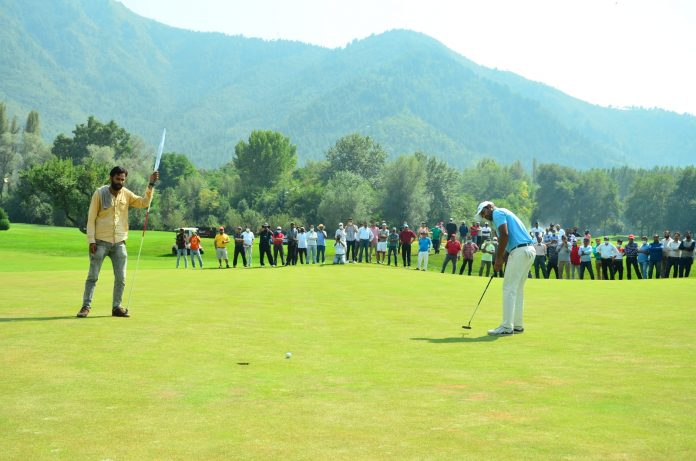 Walking off the 18th green victorious after the J&K Open was an