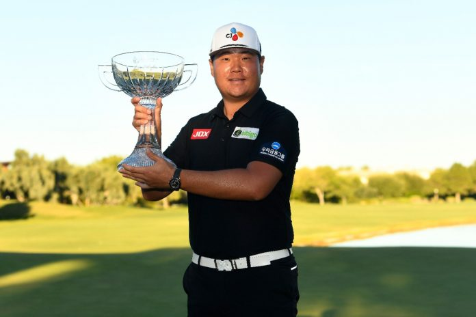 The smooth-swinging Sungjae Im birdied four of his opening seven holes and then turned on a masterclass with five consecutive birdies from the ninth to 13thto seize control of the Shriner Children's Open. Photo: Getty Images